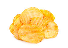 Ribbed potatoes snack Royalty Free Stock Photo