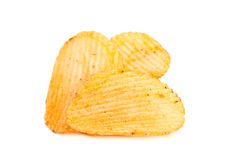 Ribbed potatoes snack Stock Photography