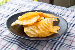 Ribbed potatoes snack Stock Images