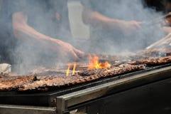 Ribben op de grill   Royalty-vrije Stock Foto's