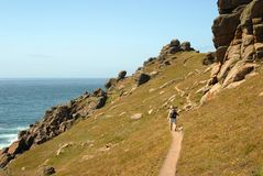 Ribben weg - Land's End Cornwall royalty-vrije stock foto's