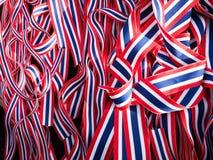 Ribbin tailandés de la bandera Imagenes de archivo