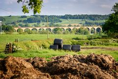 Ribble viaduct Yorkshire UK Stock Images
