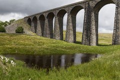 Ribblehead铁路高架桥看法  约克夏,英国,英国 免版税图库摄影