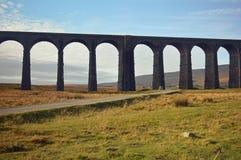 Ribblehead高架桥的更加接近的看法 免版税库存照片