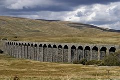 Ribblehead Viaduct. In North Yorkshire is one of the longest, highest and most famous viaducts on the Settle-Carlisle Railway, a railway line passing through Stock Images