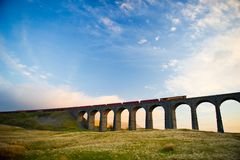 The Ribblehead Viaduct or Batty Moss Viaduct Royalty Free Stock Images
