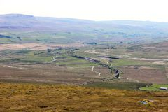 Ribblehead viaduct and Pen-y-Ghent from Whernside Stock Image
