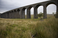 Ribblehead Viaduct River Ribble Yorkshire Dales Yorkshire England Royalty Free Stock Photo