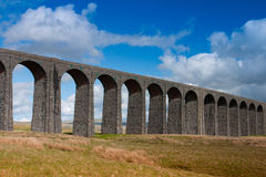 Ribblehead Viaduct in the Yorkshire Dales,England. Famous Ribblehead Viaduct in the Yorkshire Dales on a sunny day, England Royalty Free Stock Photos