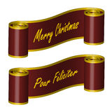 Ribbon � Merry Christmas, PF Stock Images