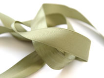 Ribbon. Green ribbon on white background Royalty Free Stock Photos