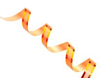 Ribbon. Turns of ribbon over white background Stock Photos