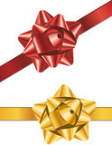 Ribbon. Red and gold luxury gift ribbon Stock Image