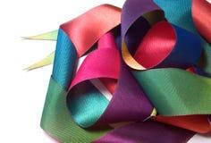 Ribbon. Colorful ribbon on white background stock photo