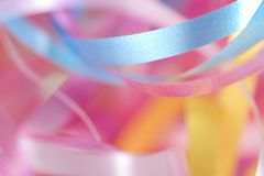 Ribbon. In various colours on white Stock Images