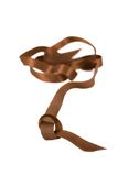 Ribbon. Brown ribbon isolated on the white background Stock Photography
