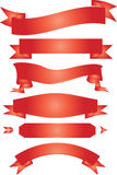 Ribbon. Banner red white background Royalty Free Stock Photography