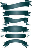 Ribbon. Banner gray white background Royalty Free Stock Images