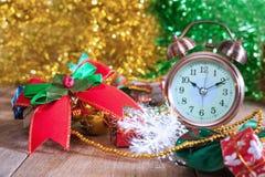 Ribbon and alarm clock Royalty Free Stock Photo
