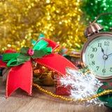 Ribbon and alarm clock Stock Photo