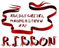 Ribbon alphabet Stock Photo