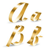 Ribbon alphabet ab Royalty Free Stock Photo