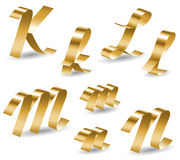 Ribbon alphabet KLMN Stock Photos