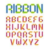 Ribbon alphabet Royalty Free Stock Photos