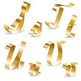 Ribbon alphabet STUV Royalty Free Stock Image