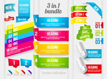 Ribbon And Banner Collection Stock Photo