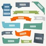 Ribbon And Banner Set Stock Photo