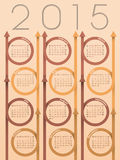 2015 ribbon arrow calendar. Design with light background Stock Photo