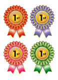 Ribbon award. With different colour Royalty Free Stock Photos