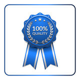 Ribbon award icon blue 3 Royalty Free Stock Image
