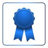 Ribbon award icon blue Royalty Free Stock Images