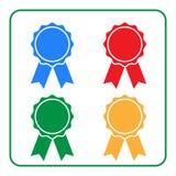 Ribbon award icons set 2 Royalty Free Stock Images