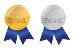 Ribbon Award labeled the best choice Royalty Free Stock Photo