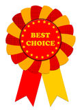 Ribbon Award labeled the best choice Royalty Free Stock Image