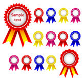 Ribbon awards Stock Images
