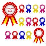 Ribbon awards. Set od ribbon awards, vector illustration Stock Images