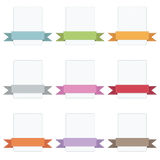Ribbon badges Royalty Free Stock Photo