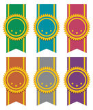 ribbon badges, vector  Stock Photography