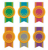 Ribbon badges, vector  Stock Images