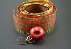 Ribbon,ball Christmas decorations Royalty Free Stock Photos