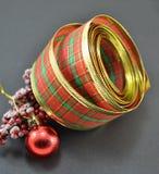 Ribbon,ball Christmas decorations Royalty Free Stock Photography