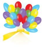 Ribbon balloon bouquet vector Stock Image