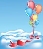 Ribbon and balloons Royalty Free Stock Photography