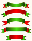 Ribbon banner christmas Royalty Free Stock Photo
