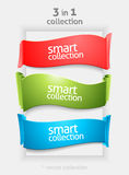 Ribbon and banner collection Stock Images